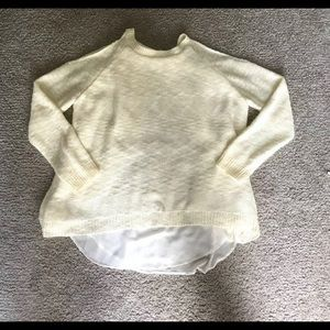 She&Sky ivory open shoulder sweater small